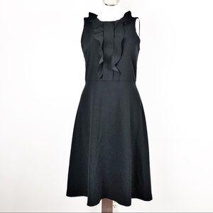 Ann Taylor Sz 6 Sleeveless Ruffled Neck Dress